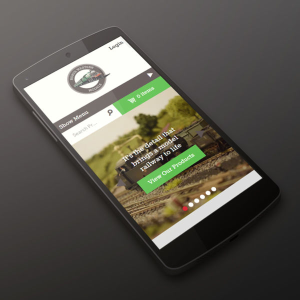 North Western Models website on a phone
