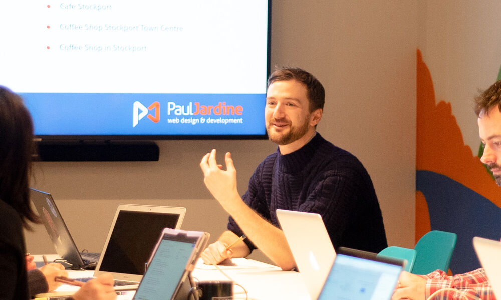 An SEO training workshop being presented by Paul Jardine Web Design.