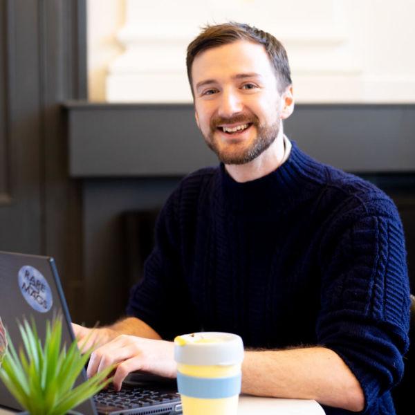 The web designer Paul Jardine.