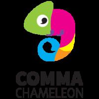Comma Chameleon logo.