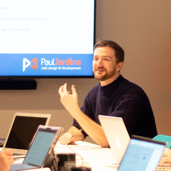 An SEO training workshop with Paul Jardine Web Design.