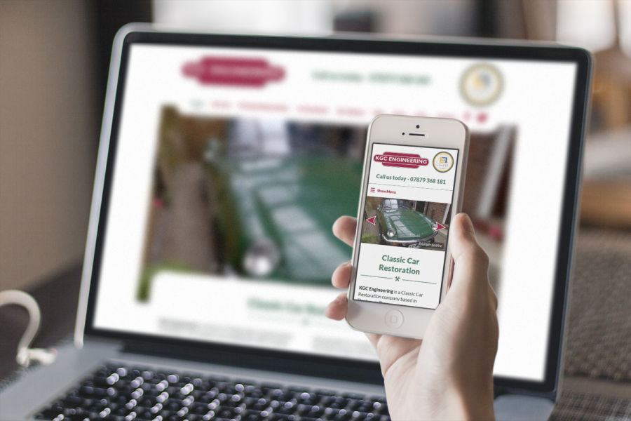 KGC Engineering, Stockport- responsive web design
