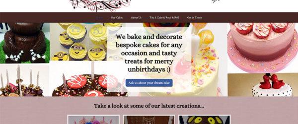 Wonderland Cakes website home page